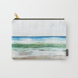 Ocean Watercolor Carry-All Pouch