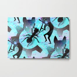 Modern Contemporary Art with Ants Metal Print