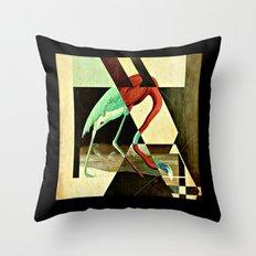 Flamingo Duet 2 Throw Pillow