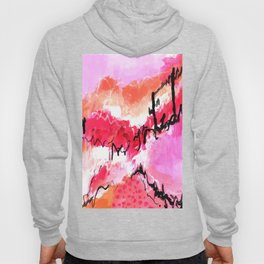 Abstract pink painting with texture triptych I Hoody