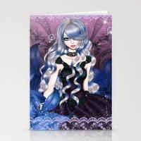 valentina Stationery Cards featuring Blue Valentina by Valentina Marinaccio