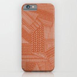 Mud Cloth / Orange iPhone Case