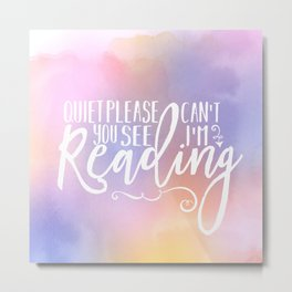 Reading Time Metal Print