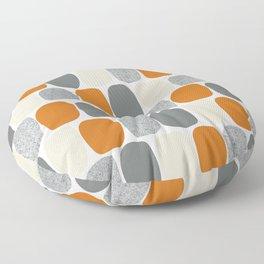 Wonky Ovals in Orange Floor Pillow
