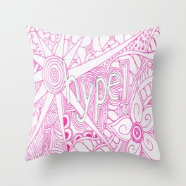 Hype! Throw Pillow