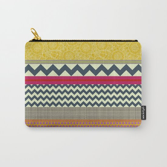 New York Beauty stripe Carry-All Pouch