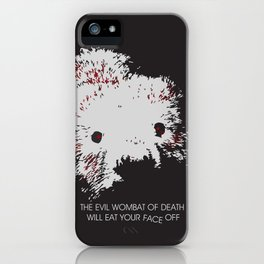 Evil Wombat of Death iPhone Case