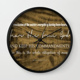Whole Obligation of Man | Ecclesiastes 12:13 Wall Clock