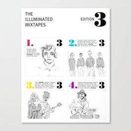 The Illuminated Mixtapes, Edition 3 Canvas Print