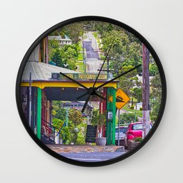 Beautiful street in the country Wall Clock