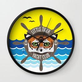 Little Tiger Yacht Club Wall Clock