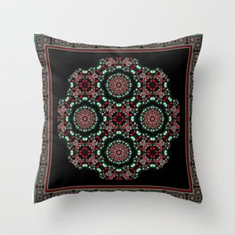 Holiday Mandala Throw Pillow
