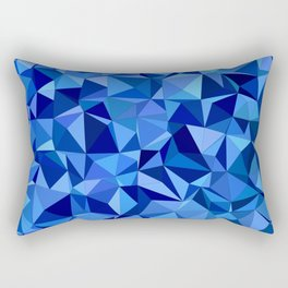 Blue tile mosaic Rectangular Pillow