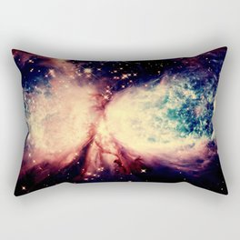Coral Teal A Star is Born Nebula Rectangular Pillow
