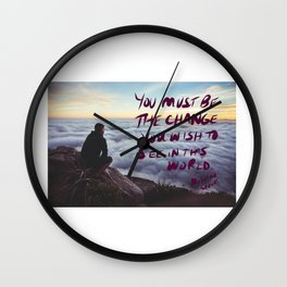 youmustbethechange Wall Clock