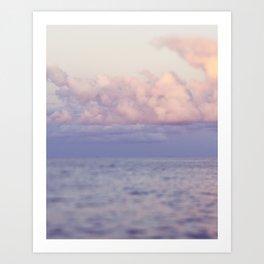 PASTEL SEAS Art Print