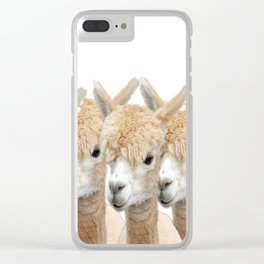 Alpaca Line Up Clear iPhone Case