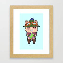 Cute Teemo design Framed Art Print