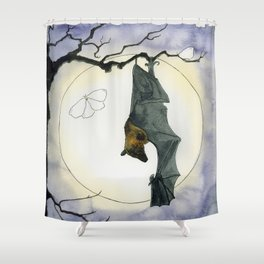Moonlight Bat Shower Curtain