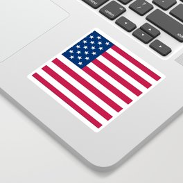 Flag of USA - American flag, flag of america, america, the stars and stripes,us, united states Sticker