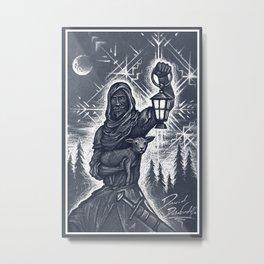 Winter Wanderer Metal Print