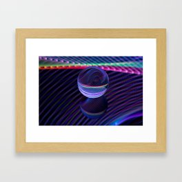 Checkered lines in the glass ball Framed Art Print