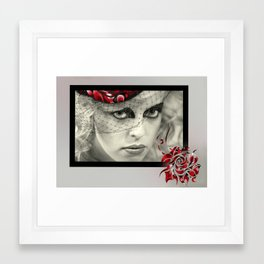 In Bloom in Red Framed Art Print