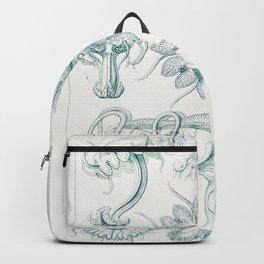 Creatures of the seas by Ernst Haeckel, German art. Backpack