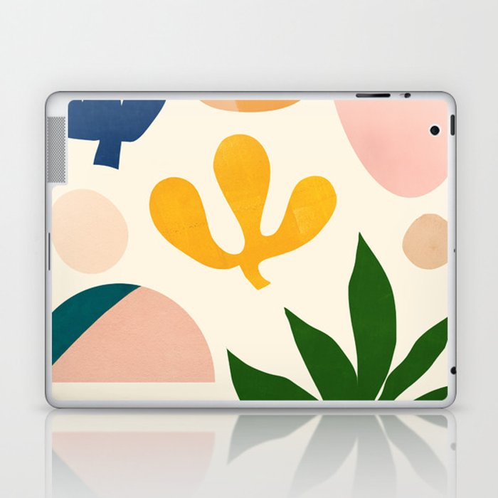 Abstraction_Floral_001 Laptop & iPad Skin