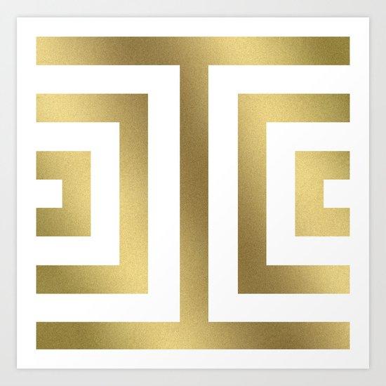 Gold Greek Stripes by caitlinworkman