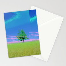 triple tree  Stationery Cards