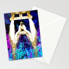 gold water on serenity Stationery Cards