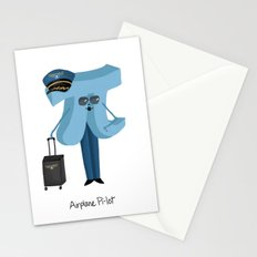 Airplane Pi-lot Stationery Cards
