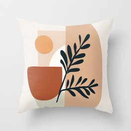 Geometric Shapes Throw Pillow
