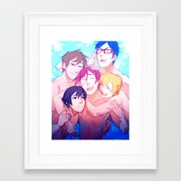 iwatobi Framed Art Prints featuring Make Us Free by Blue