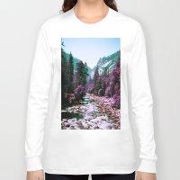 yosemite Long Sleeve T-shirts featuring Yosemite Purple by Richard PJ Lambert