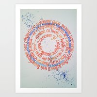 calligraphy Art Prints featuring calligraphy by stelaart