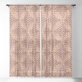Dizzying kisses XOXO Sheer Curtain