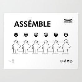 The Avengers X IKEA Mashup Art Print