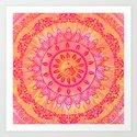 Sun Kissed Mandala Orange Pink by inspiredimages