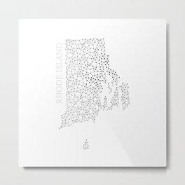 Rhode Island LineCity W Metal Print