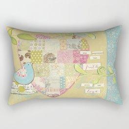 She Expressed Her Faith by Terri Conrad Designs Rectangular Pillow