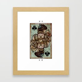Queen of Clubs - Ignavia - From Requiem Playing Cards Framed Art Print