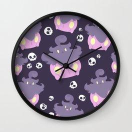 Pumpkaboo Pattern Wall Clock