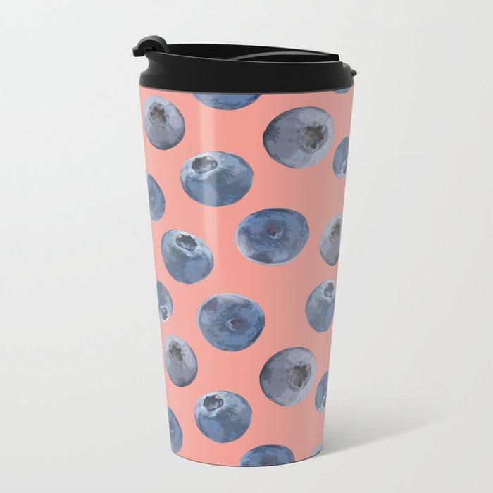 Blueberry Metal Travel Mug