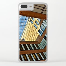 Modern office building in Hamburg Clear iPhone Case