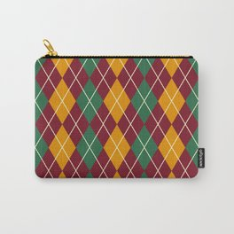 Schoolboy Maroon Argyle Carry-All Pouch