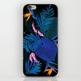 tropical // night in the garden iPhone Skin