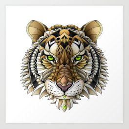 Ornate Tiger Art Print