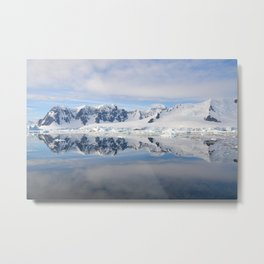 Perfect reflections of the Antarctic mountains Metal Print